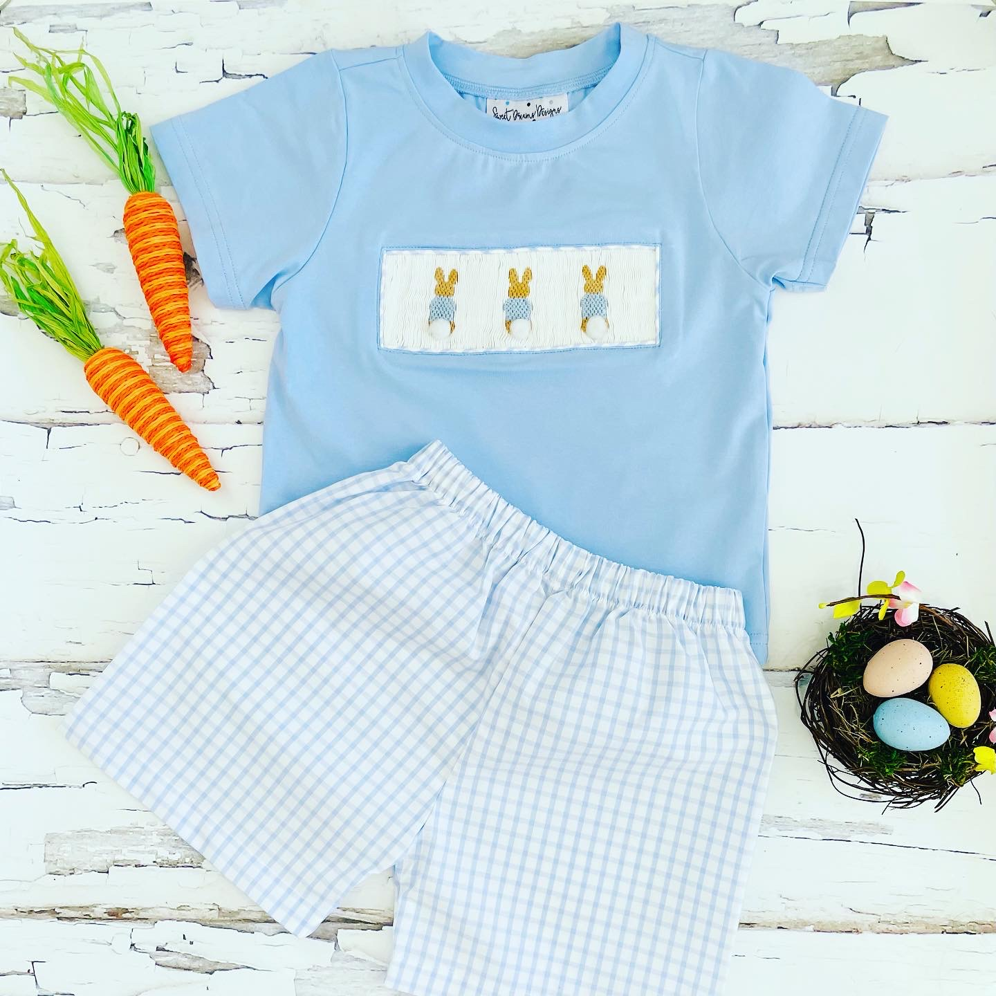 Cottontail Trio Boy Short Set