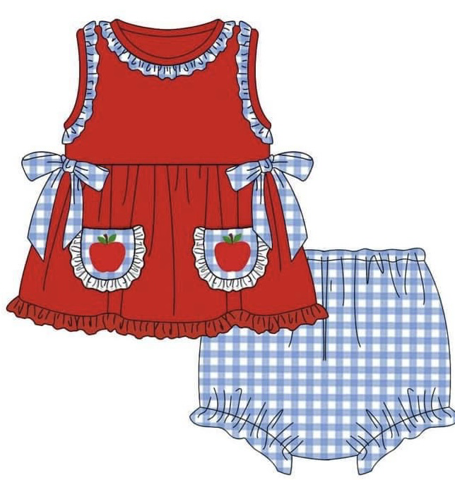 Back to School Girls Bloomer Set