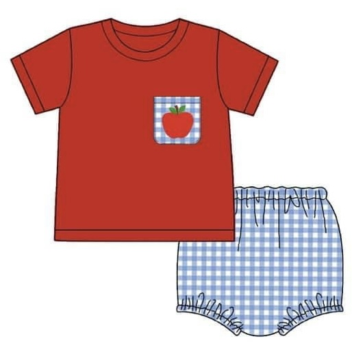 Back to School Boys Bloomer Set