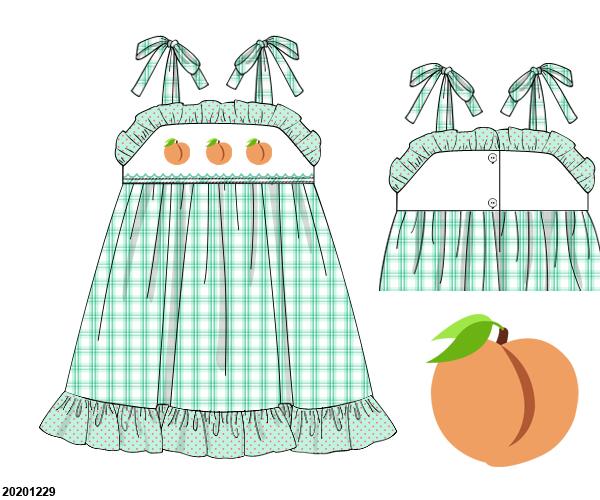 Peaches Ruffle Sundress