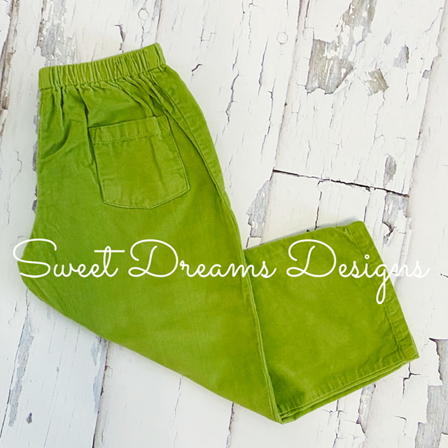 Pants Apple Green Corduroy