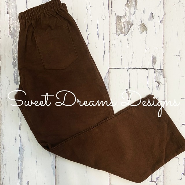 Pants Brown Corduroy