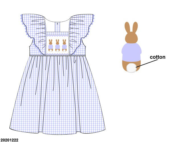 Cottontail Trio Ruffle Dress