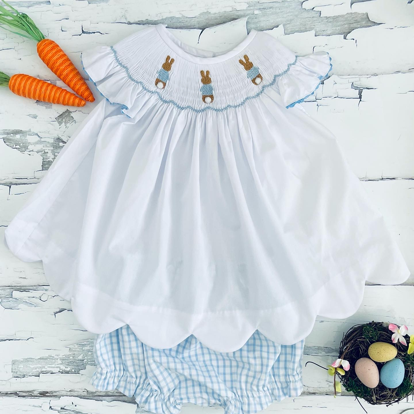 Cottontail Trio Angel Wing Bloomer Set